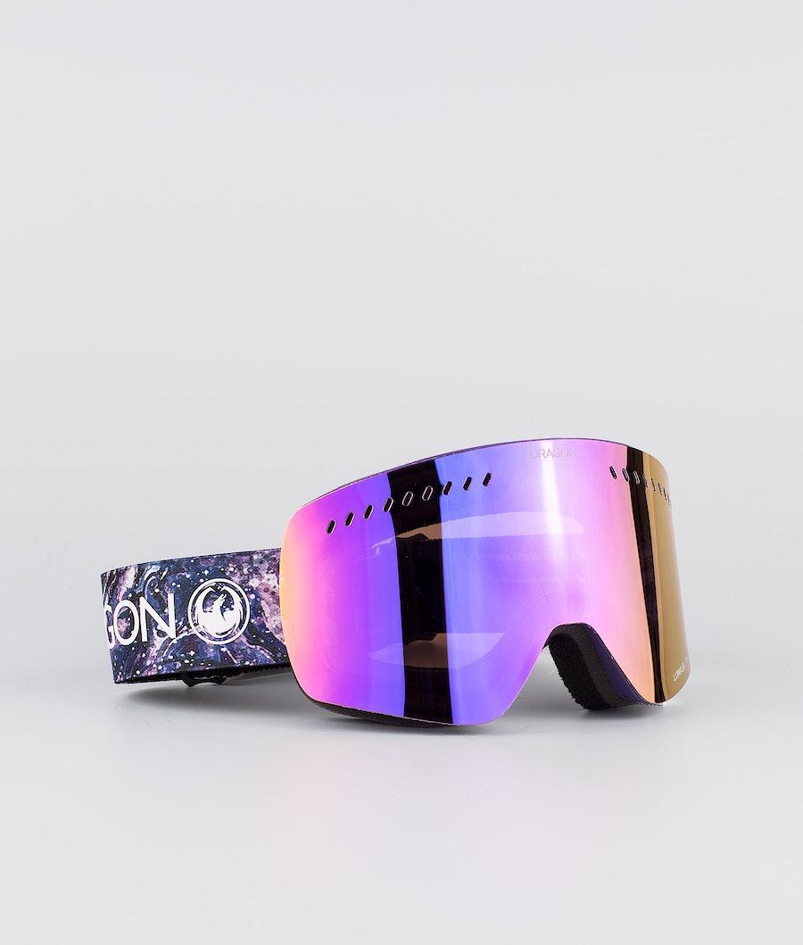 Dragon NFXs Maschera Snow Lavender w/Lumalens Purple Ion+Lumalens Amber