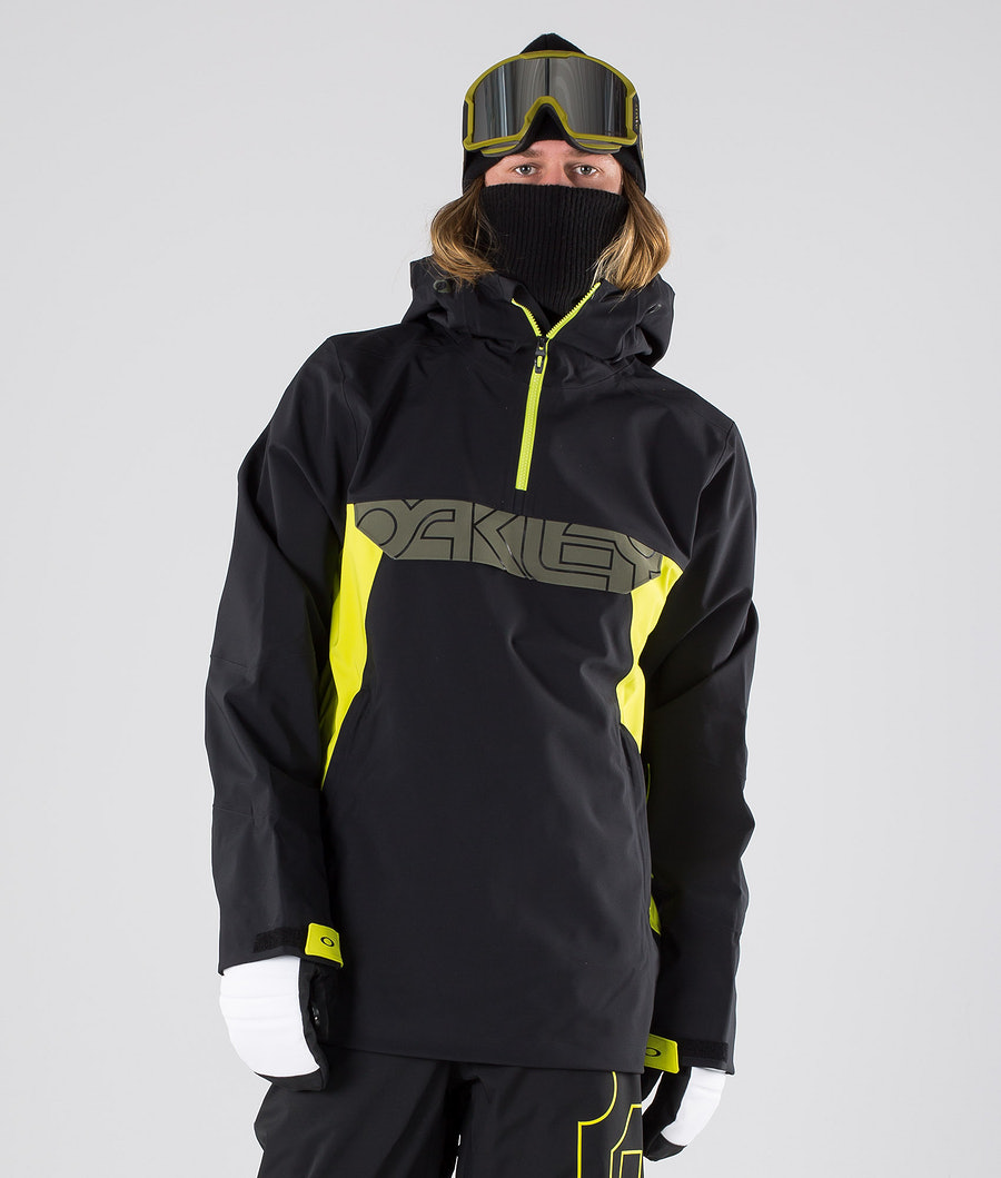 Oakley Black Forest Shell 3L 15K Snowboardjacke Blackout