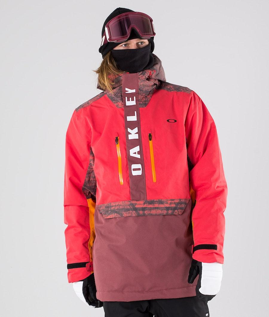 Oakley Regulator Insula 2L 10K Giacca da snowboard High Risk Red