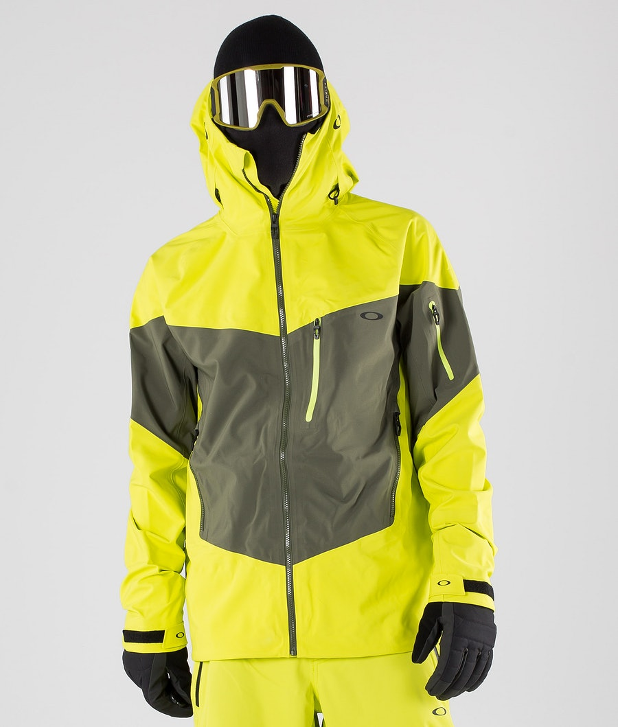 Oakley Timber 2.0 Shell 3L 15K Snowboard Jacket Sulphur