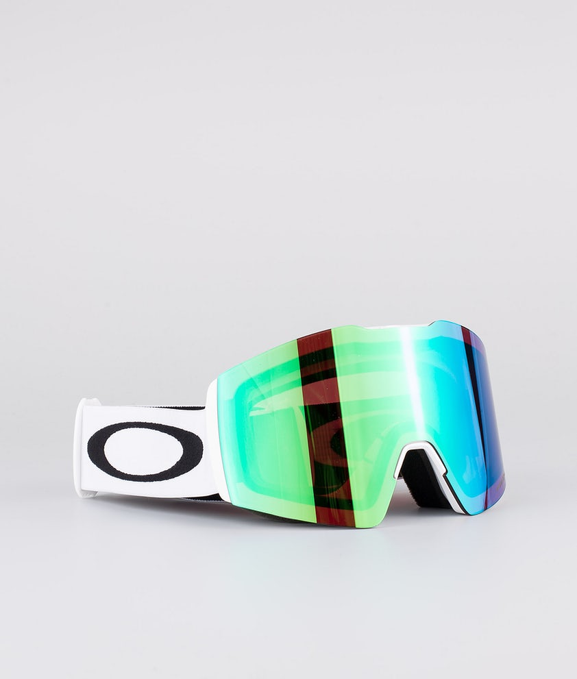 Oakley Fall Line XL Skidglasögon White With Prizm Snow Jade Iridium Lens