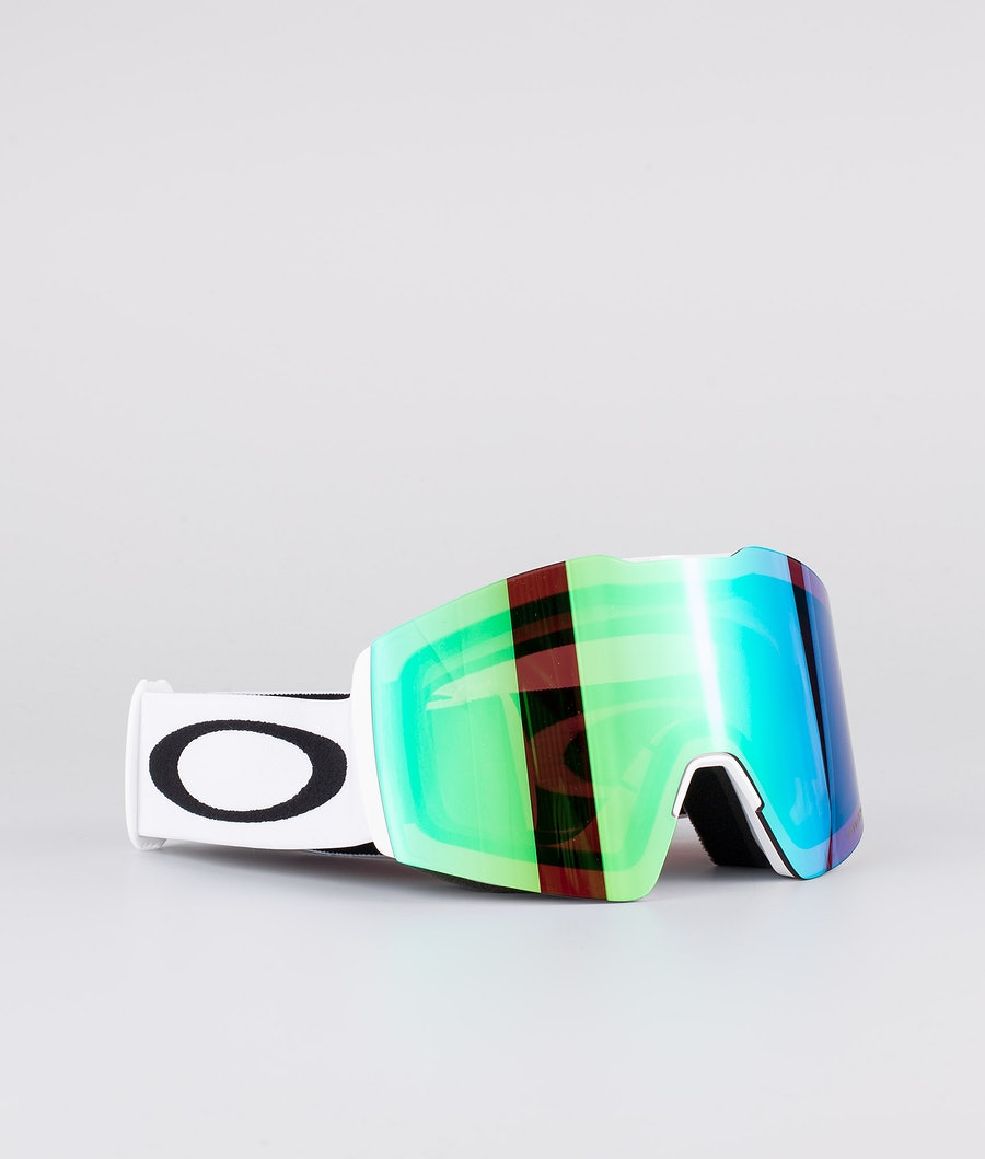 Oakley Fall Line XL Masque de ski White With Prizm Snow Jade Iridium Lens