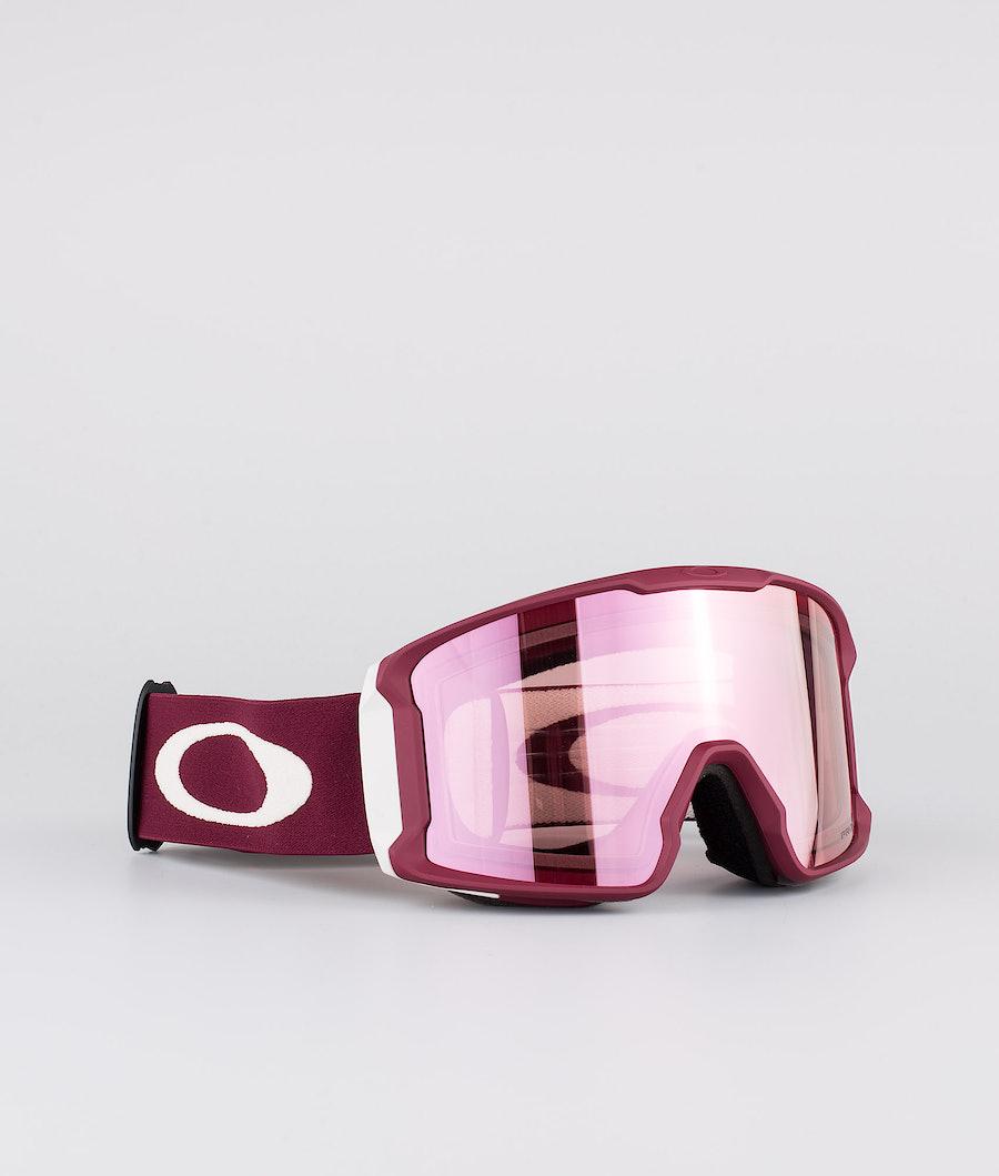 Oakley Line Miner Ski Goggle Red W/ Prizm Hi Pink