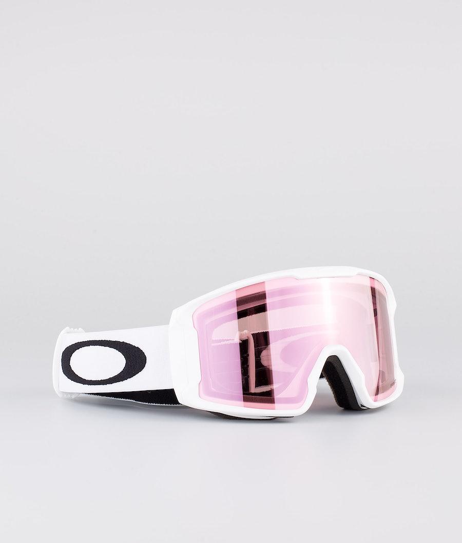 Oakley Line Miner XM Ski Goggle Matte White With Prizm Snow Hi Pink Iridium Lens