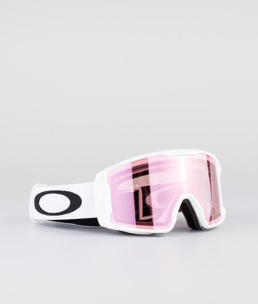 Oakley Line Miner XM Ski Goggle Matte White W/ Prizm Snow Hi Pink Iridium