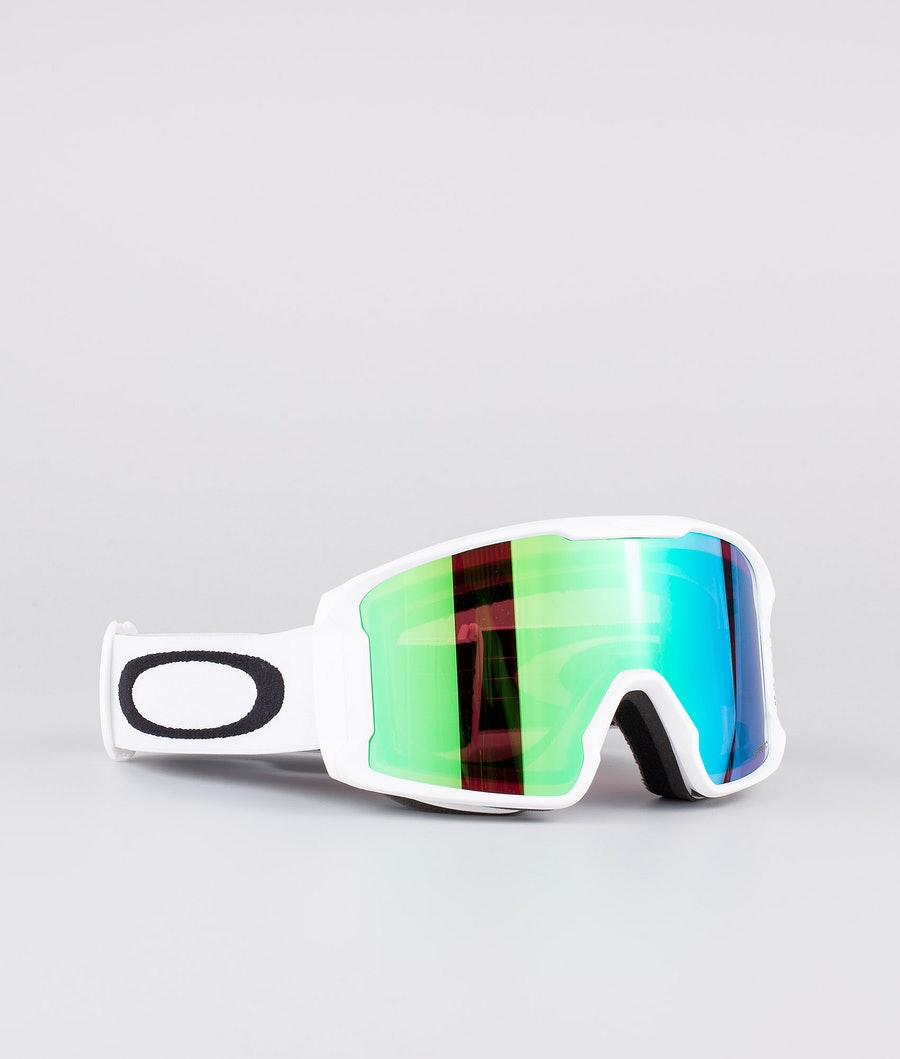 Oakley Line Miner XM Ski Goggle Matte White With Prizm Snow Jade Iridium Lens
