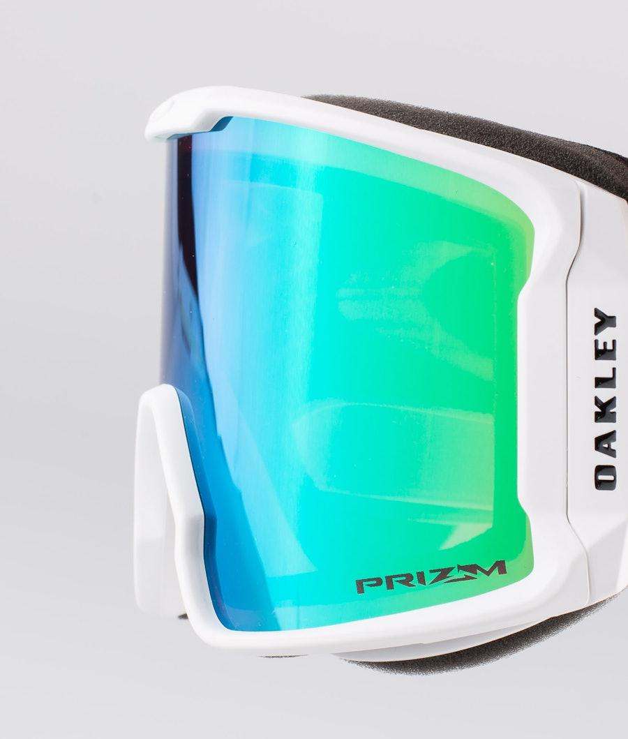Oakley Line Miner XM Skidglasögon Matte White With Prizm Snow Jade Iridium Lens