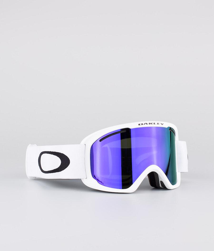 Oakley O Frame 2.0 Pro XL Ski Goggle White W/ Violet Iridium & Persimmon