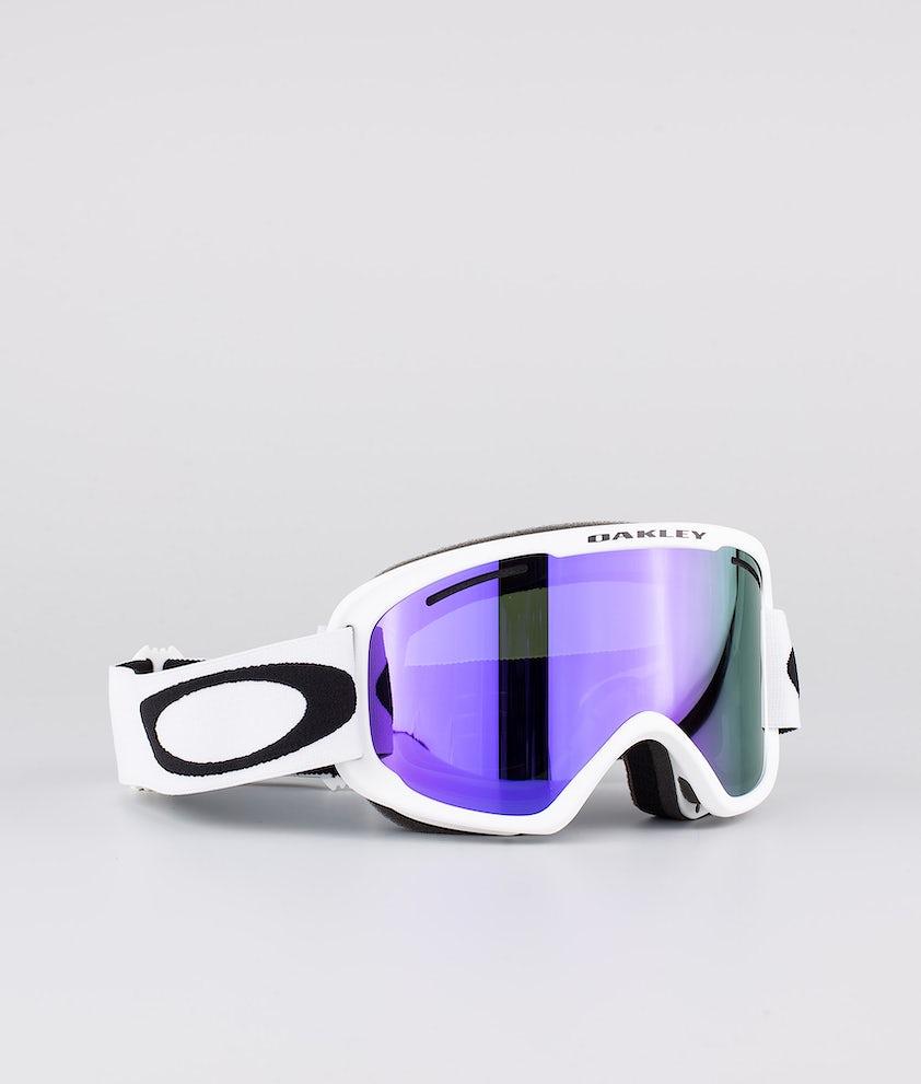 Oakley O Frame 2.0 Pro XM Ski Goggle Matte White With Violet Iridium & Persimmon Lens