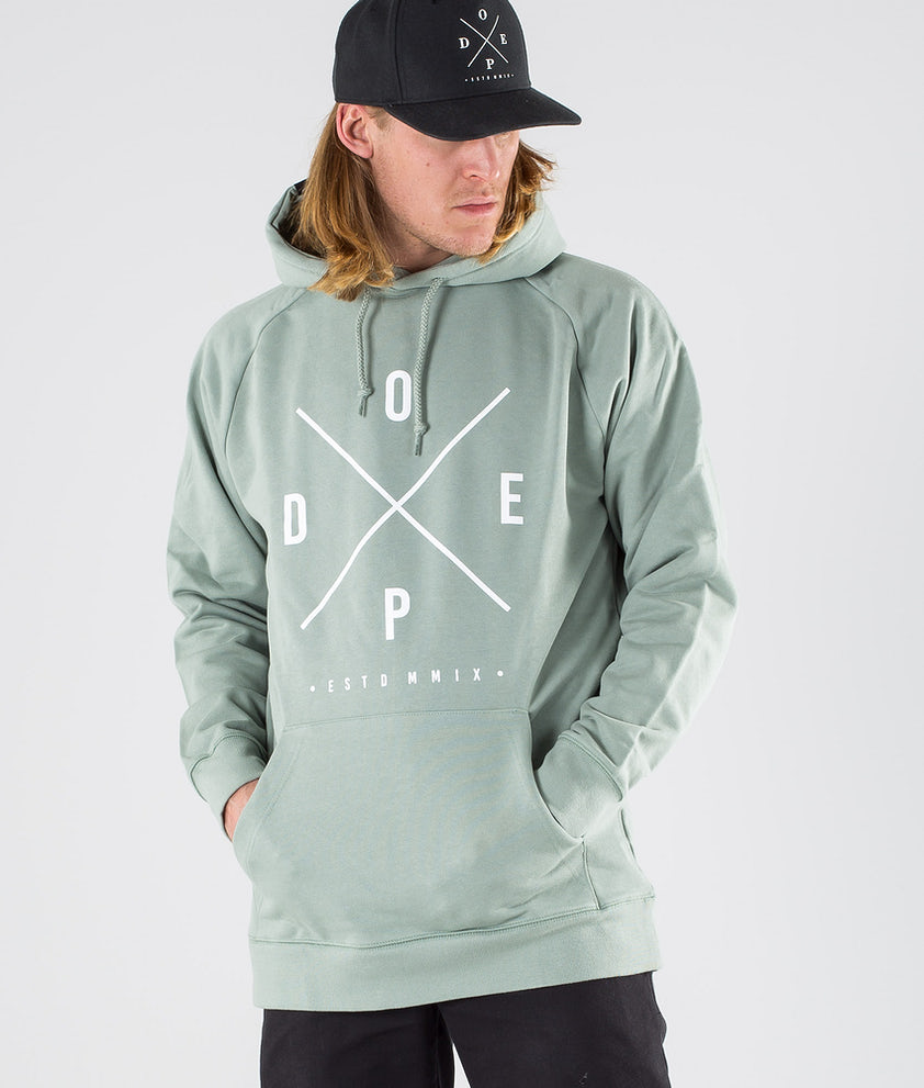 Dope 2X-up Hood Faded Green