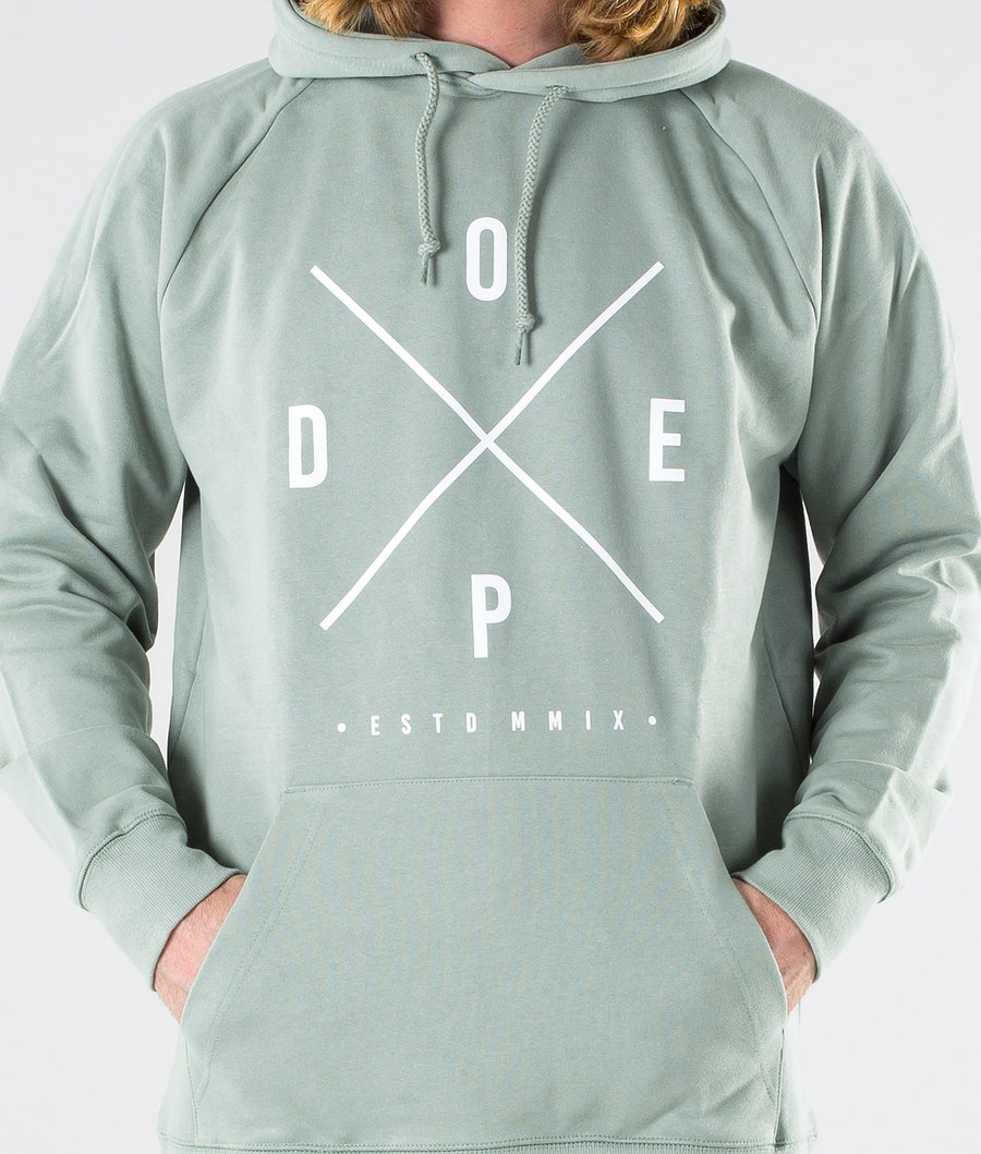 Dope 2X-up Hoodie Faded Green