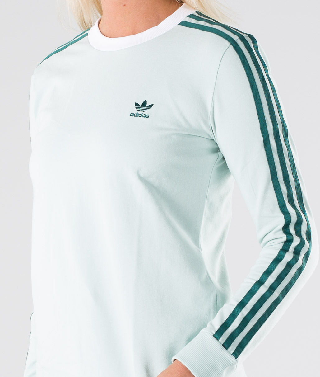 Adidas Originals 3 Stripes Long Sleeve Tee Longsleeve Vapour Green