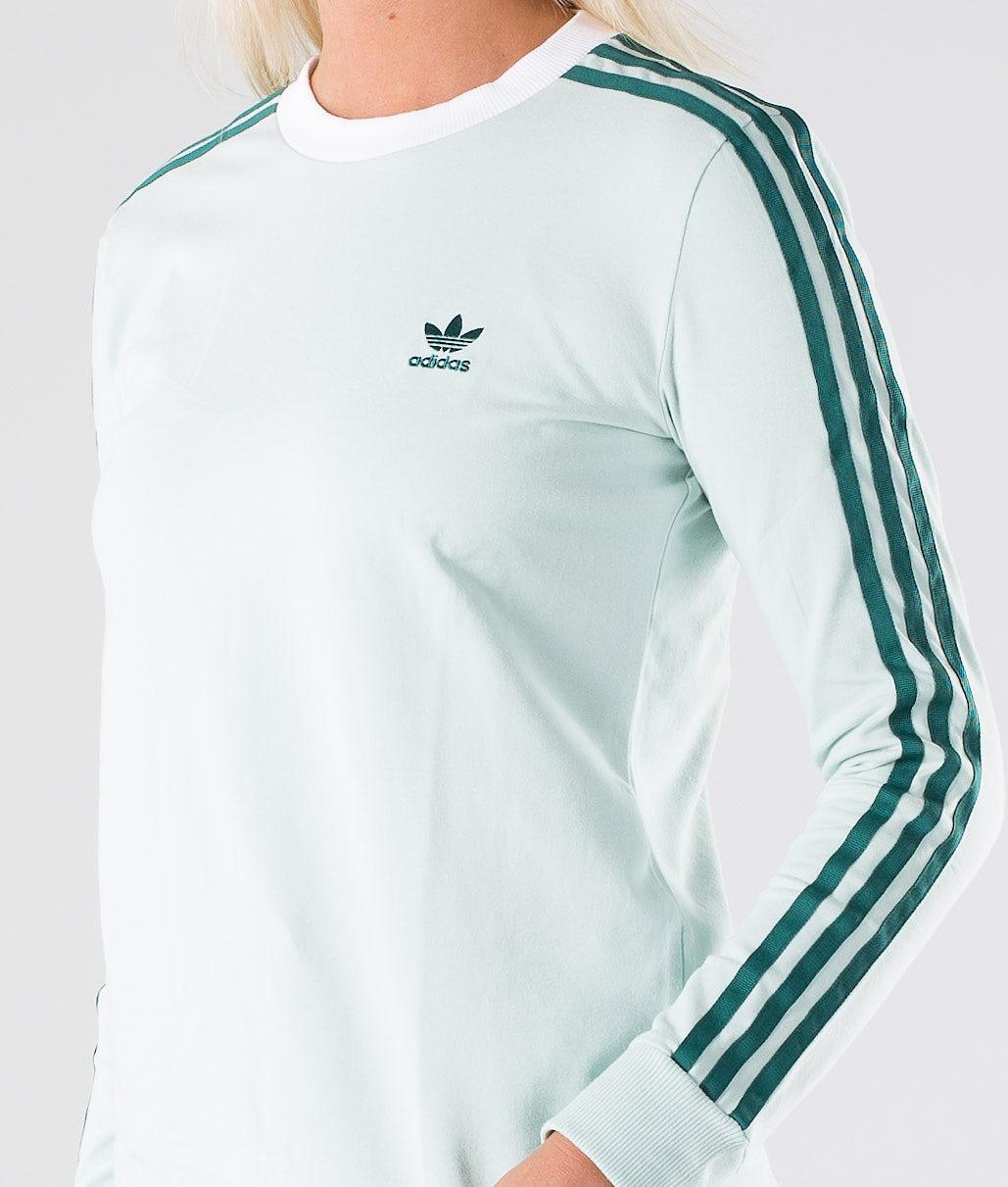 Adidas Originals 3-Stripes Long Sleeve Tee Longsleeve Vapour Green