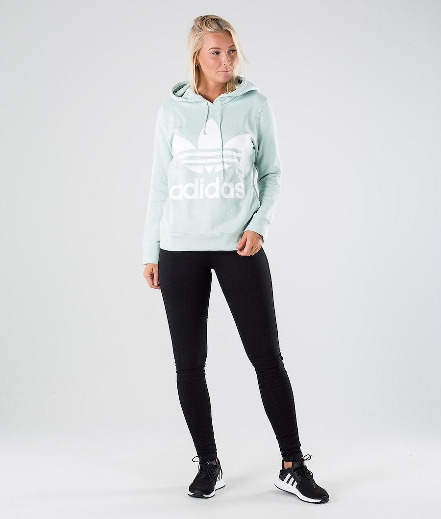 Adidas Originals Trefoil Hoodie Hood Dame Vapour Green