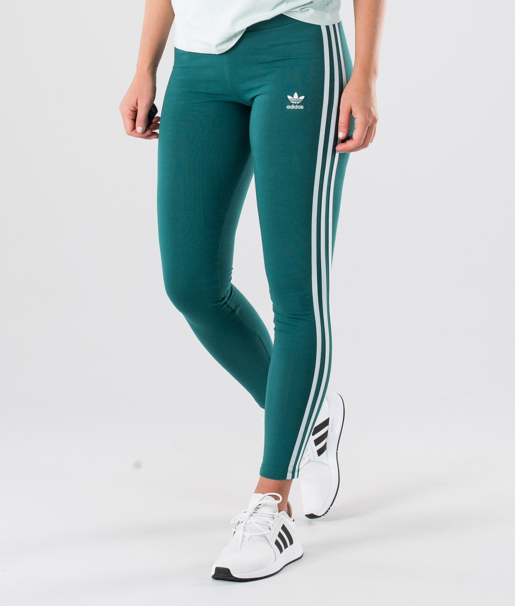 Adidas Originals 3 Stripes Tight Leggings Noble Green