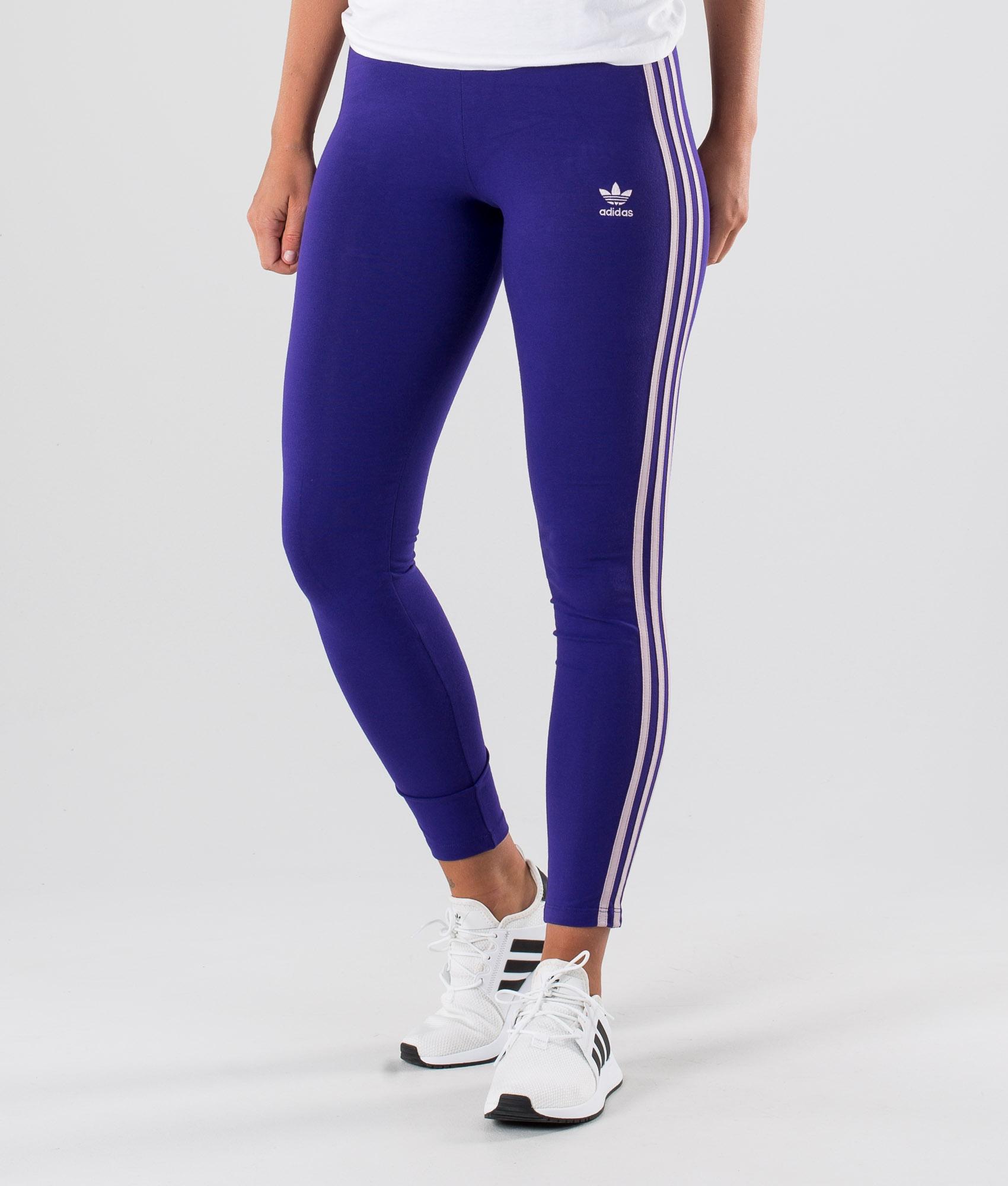 Adidas Originals 3 Stripes Tight Leggings Collegiate Purple