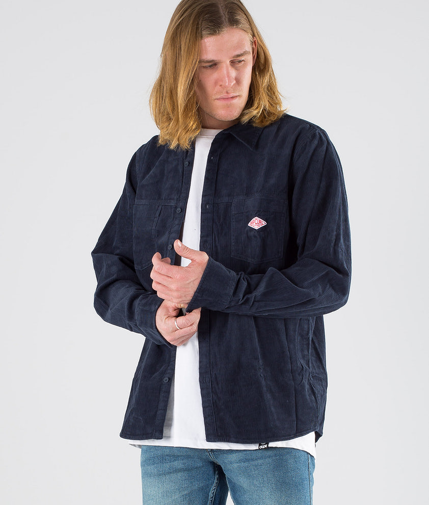 Rip Curl Rhomb L/S Skjorte Dark Blue