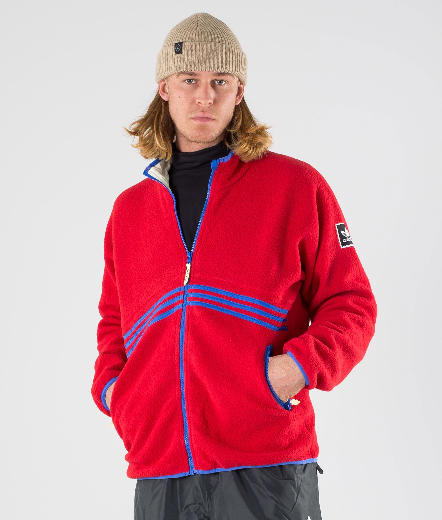 Adidas Skateboarding Sherpa Full Zip Giacca Cream White