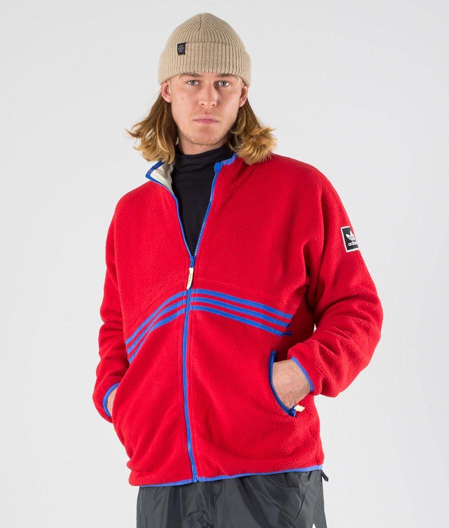 Adidas Skateboarding Sherpa Full Zip Giacca Power Red/Hi-Res Blue S18/Haze Yellow