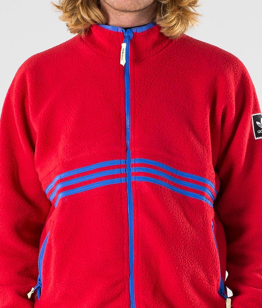 Adidas Skateboarding Sherpa Full Zip Jacka Power Red/Hi-Res Blue S18/Haze Yellow