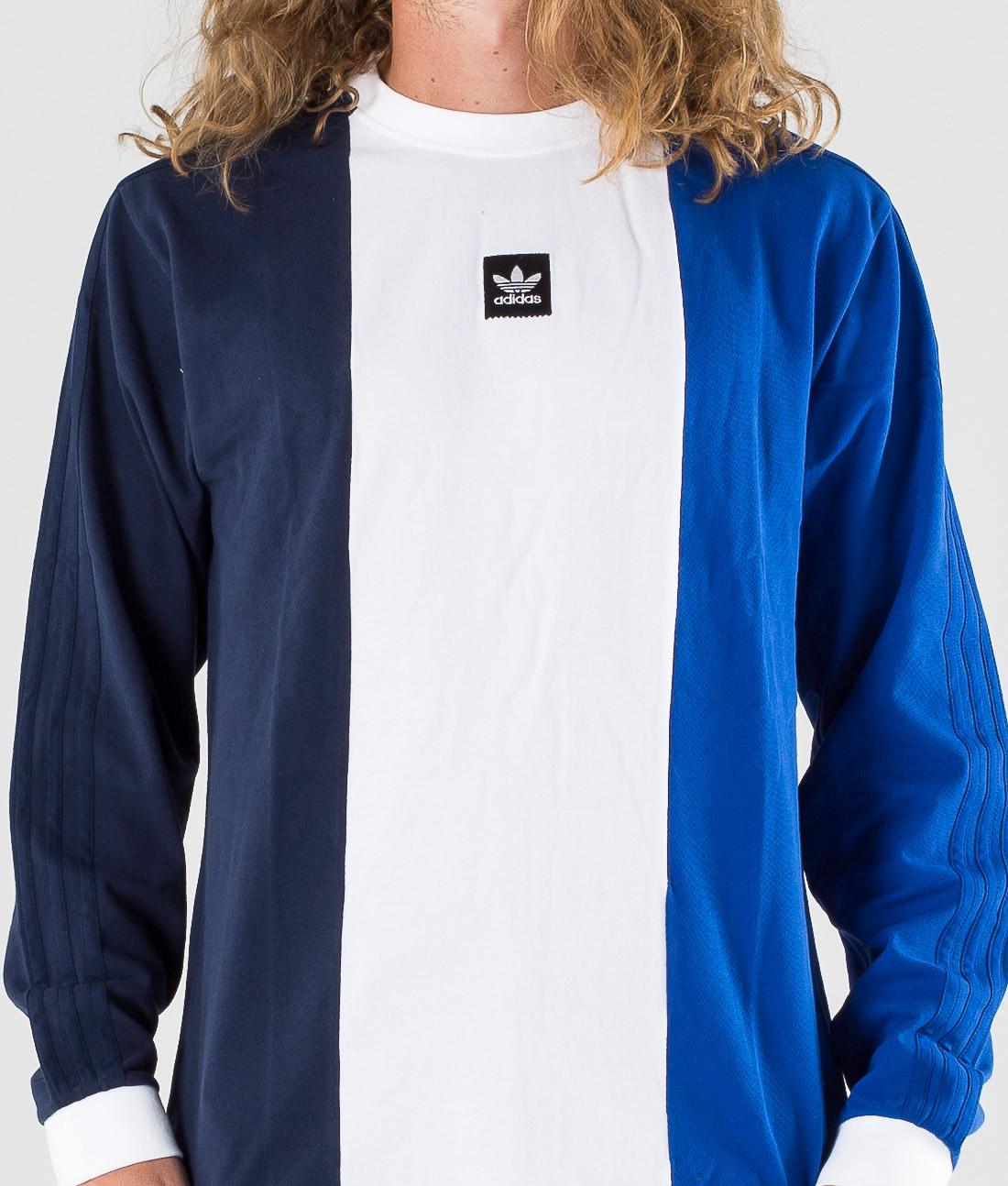 Adidas Skateboarding Tripart Tee T shirt Collegiate NavyWhiteCollegiate Royal