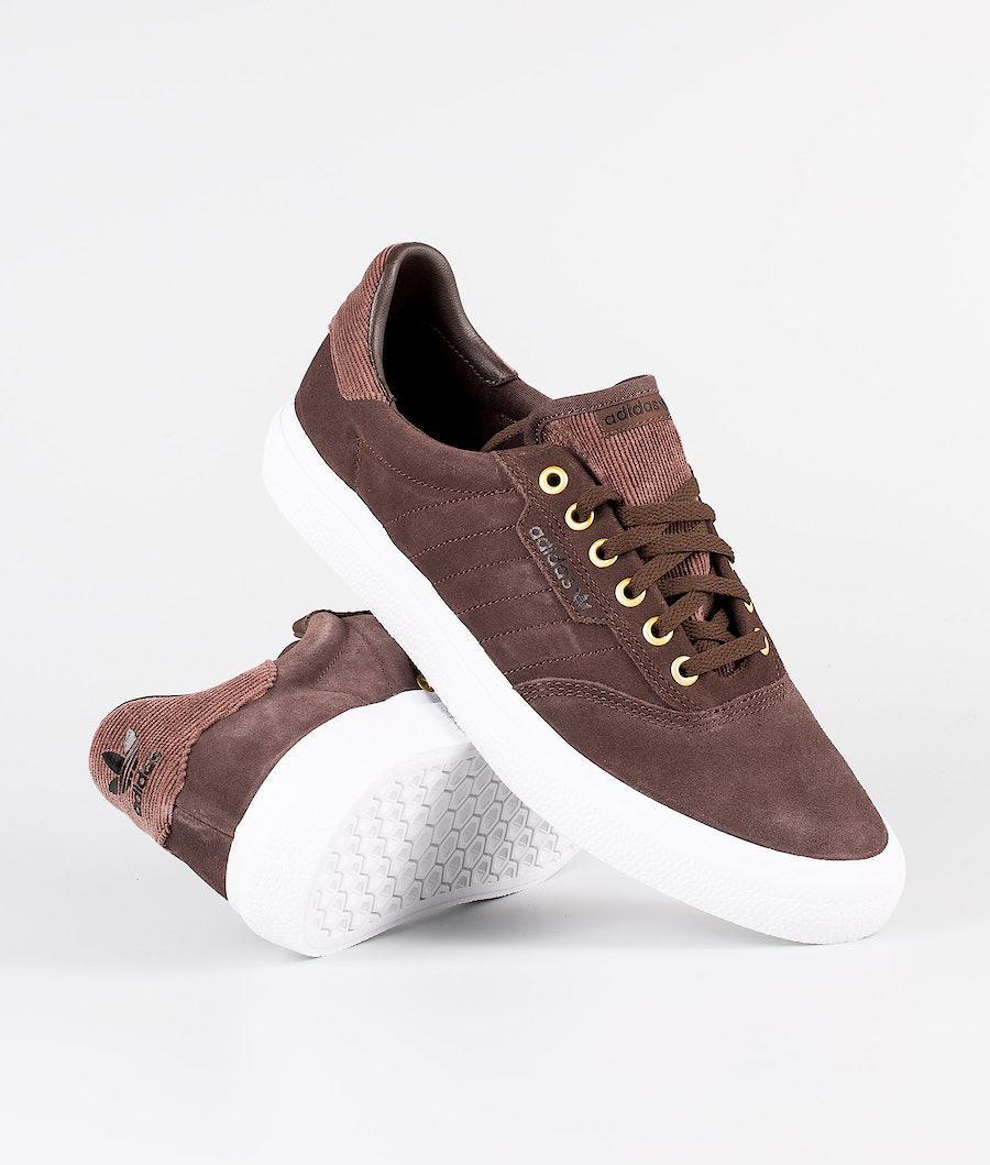 Adidas Skateboarding 3mc Sko Brown/Ftwr White/Gold Met.