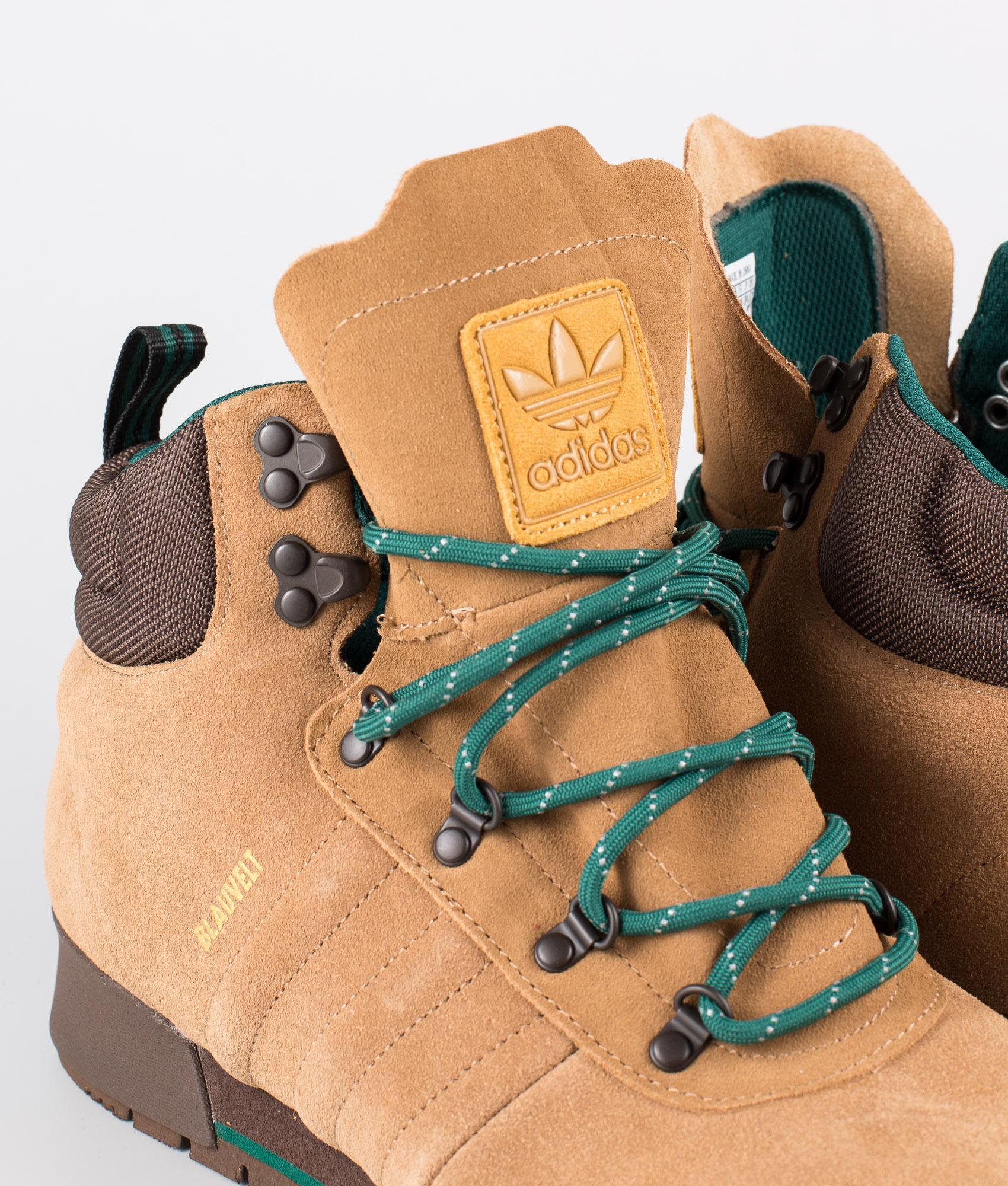 Adidas Skateboarding Jake Boot 2.0 Shoes Raw DesertBrownCollegiate Green