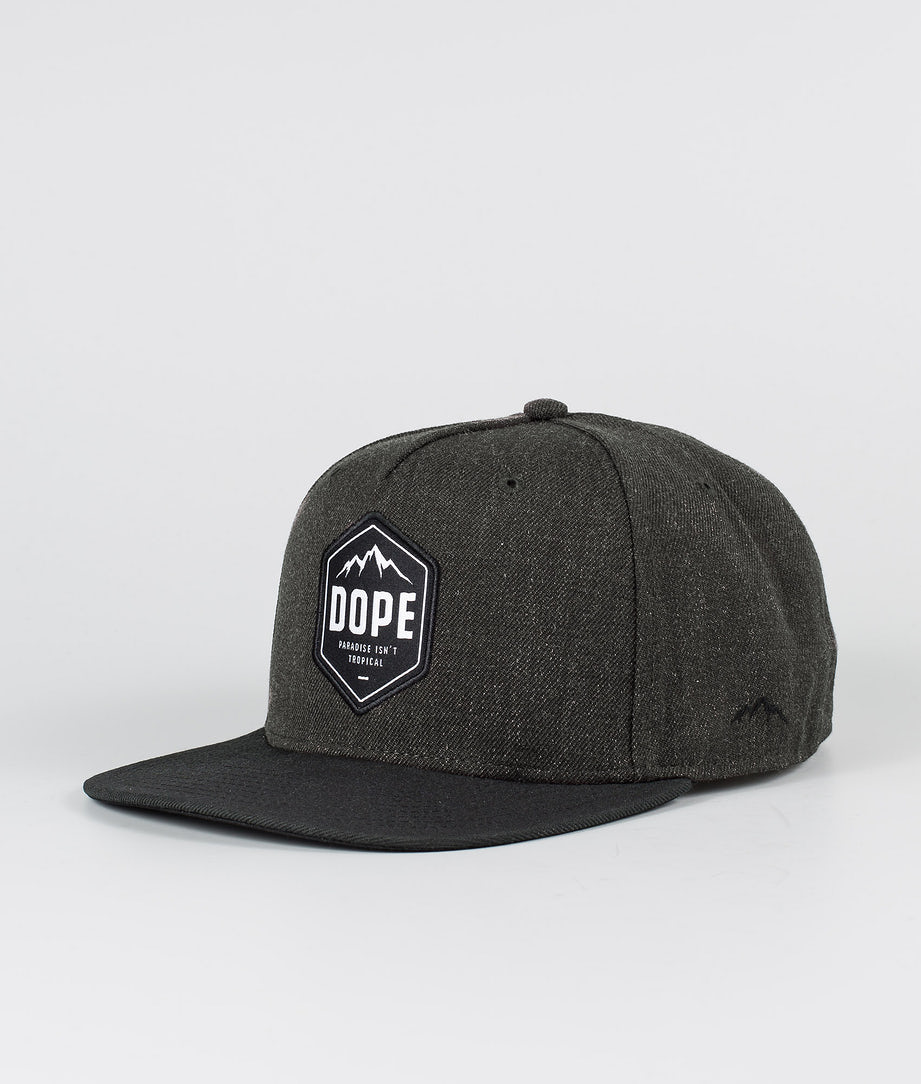 Dope Patched Casquette Dark grey Black