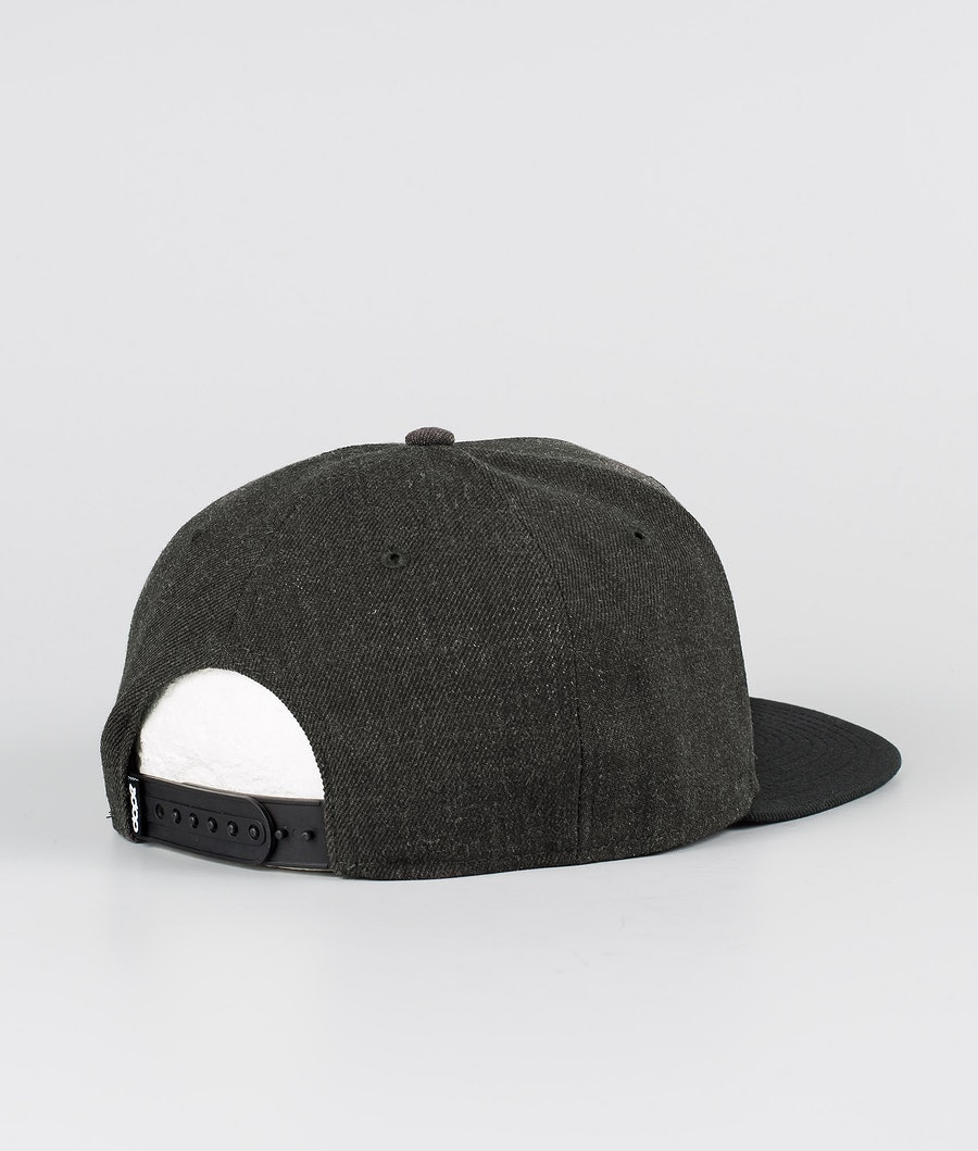 Dope Patched Cap Dark Grey Black