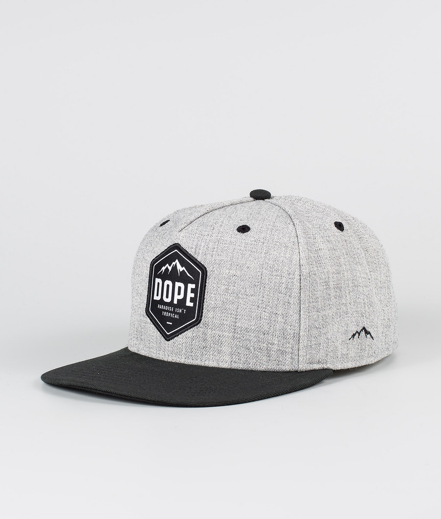 Dope Patched Caps Heather Grey Black
