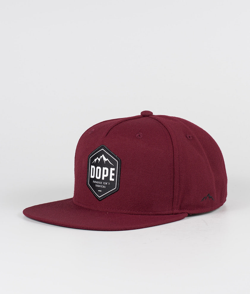 Dope Patched Caps Burgundy
