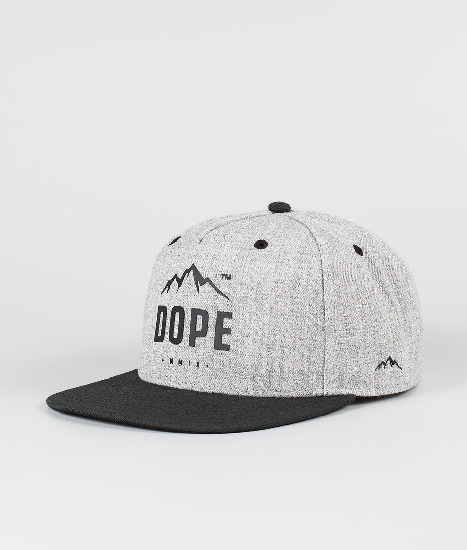 Dope Paradise Casquette Heather Grey Black