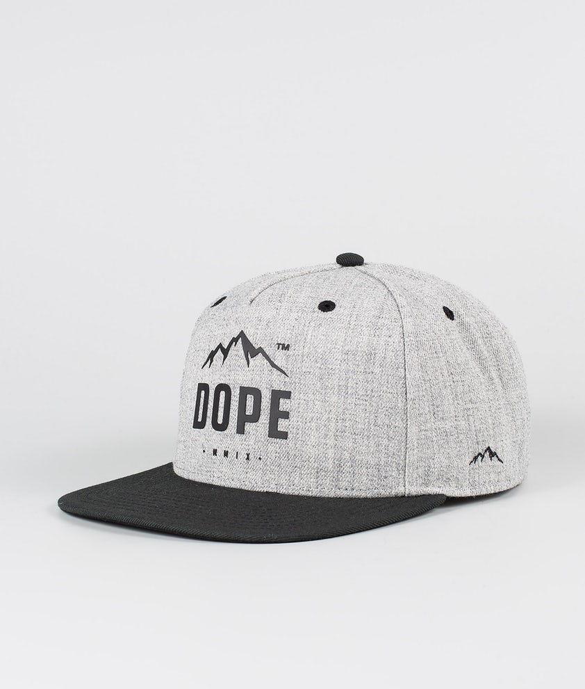 Dope Paradise Cap Heather Grey Black