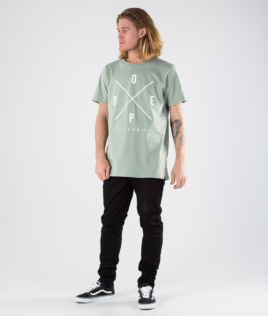 Dope 2X-up T-shirt Faded Green