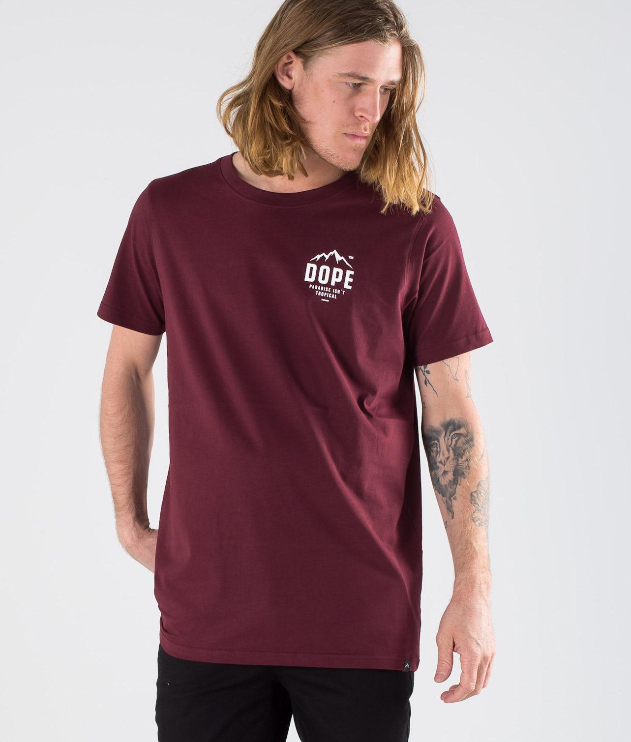 Dope Paradise II T-shirt Burgundy