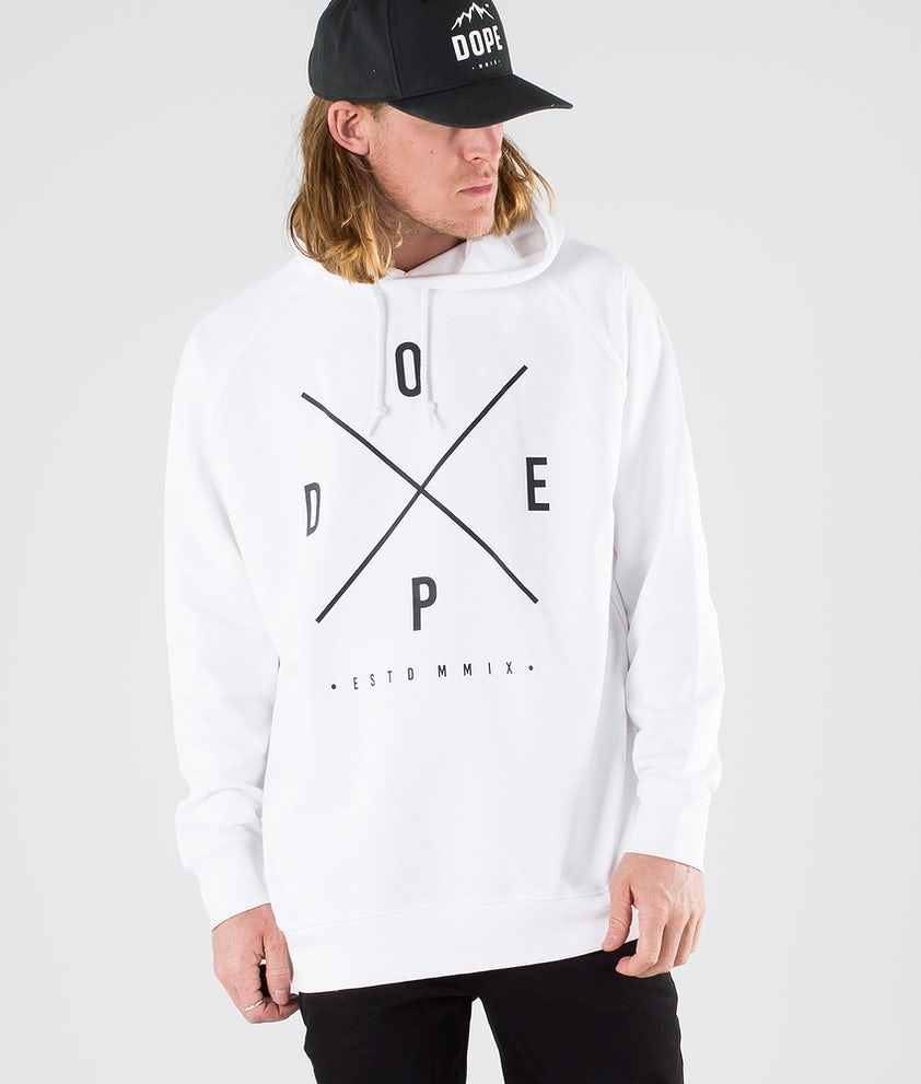 Dope Plain 2X-up Hood White