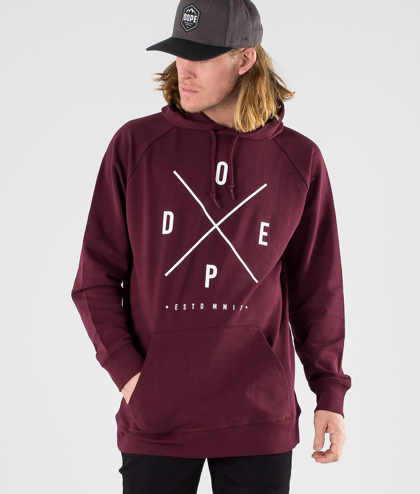 Dope Clean 2X-up Hoodie Burgundy