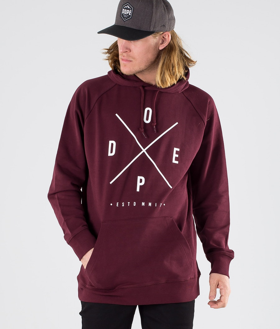 Dope Clean 2X-up Felpa con Cappuccio Burgundy