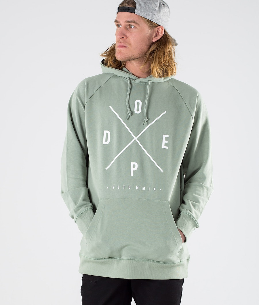 Dope Clean 2X-up Sweats à capuche Faded Green