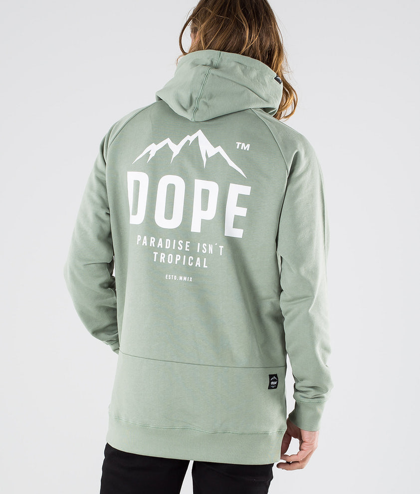 Dope Clean Paradise II Hood Faded Green