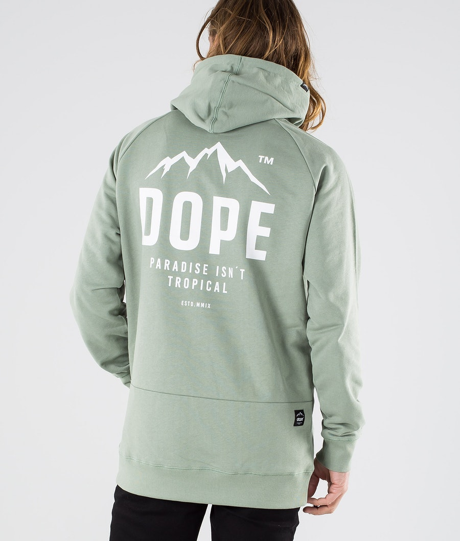Dope Clean Paradise II Hoodie Faded Green