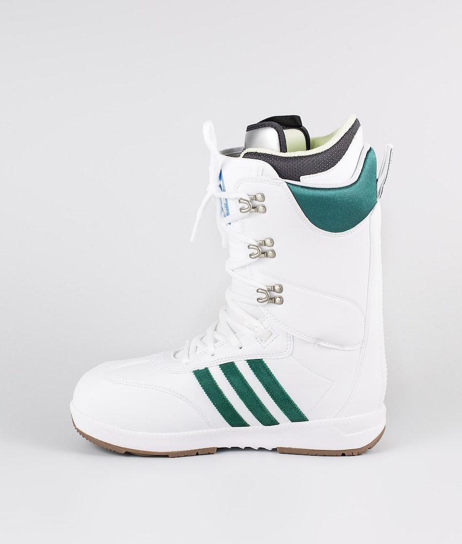 Adidas Snowboarding Samba Adv Snowboard Boots Footwear White/Collegiate Green/Gum5