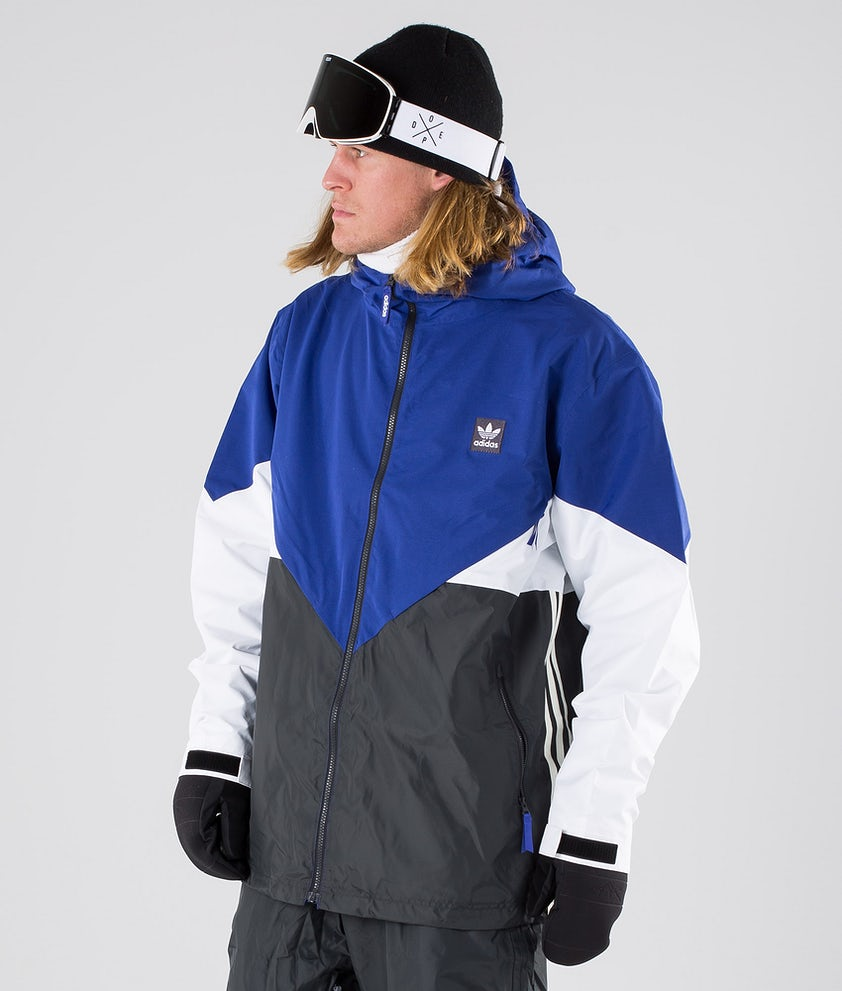 Adidas Snowboarding Premier Riding Snowboard Jacket Active Blue/Carbon/Cream White/White