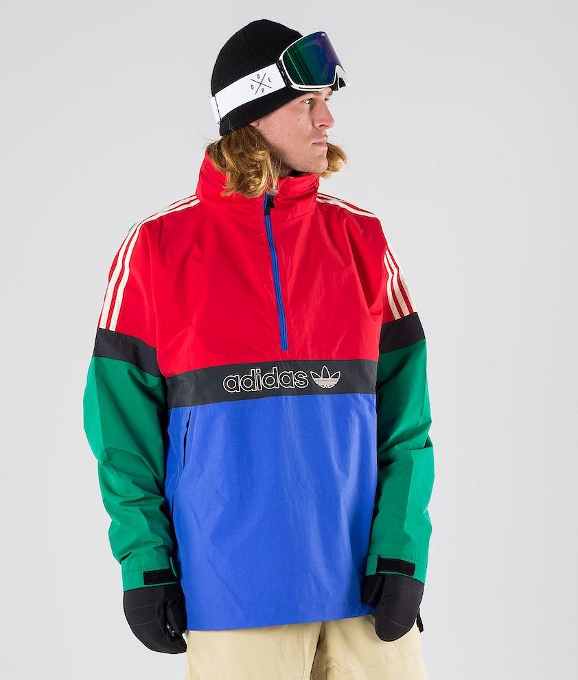 Adidas Snowboarding BB Snowbreaker Snowboardjakke Bold Green/Power Red/Hi-Res Blue S18/Carbon