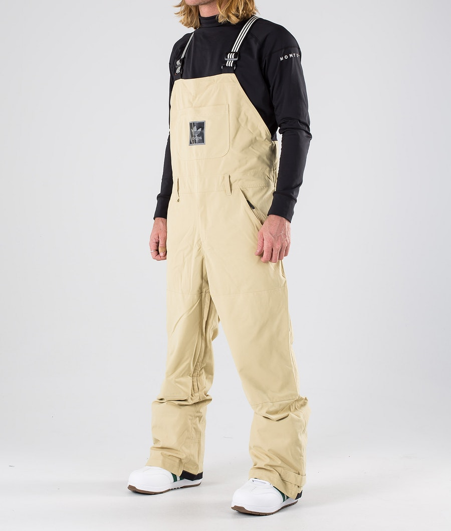 Adidas Snowboarding Utility Bib Pantaloni da snowboard Sand/Collegiate Gold