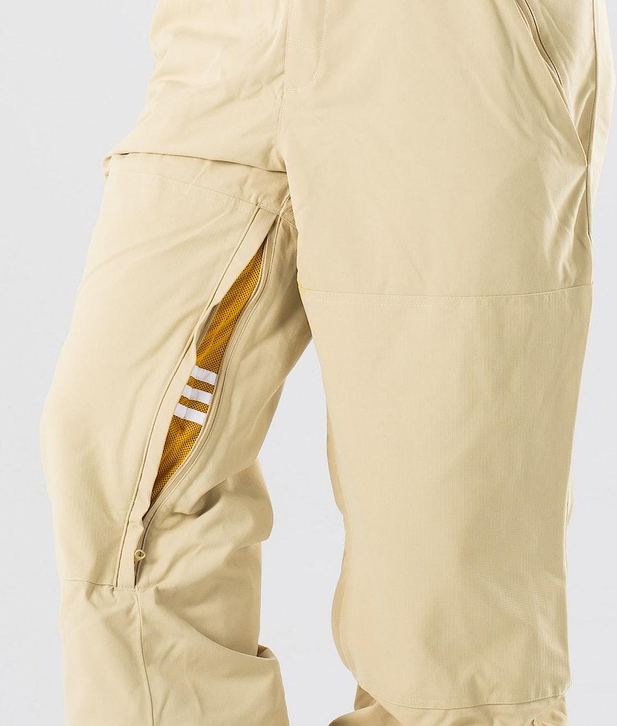 Adidas Snowboarding Utility Bib Snowboardbukse Sand/Collegiate Gold