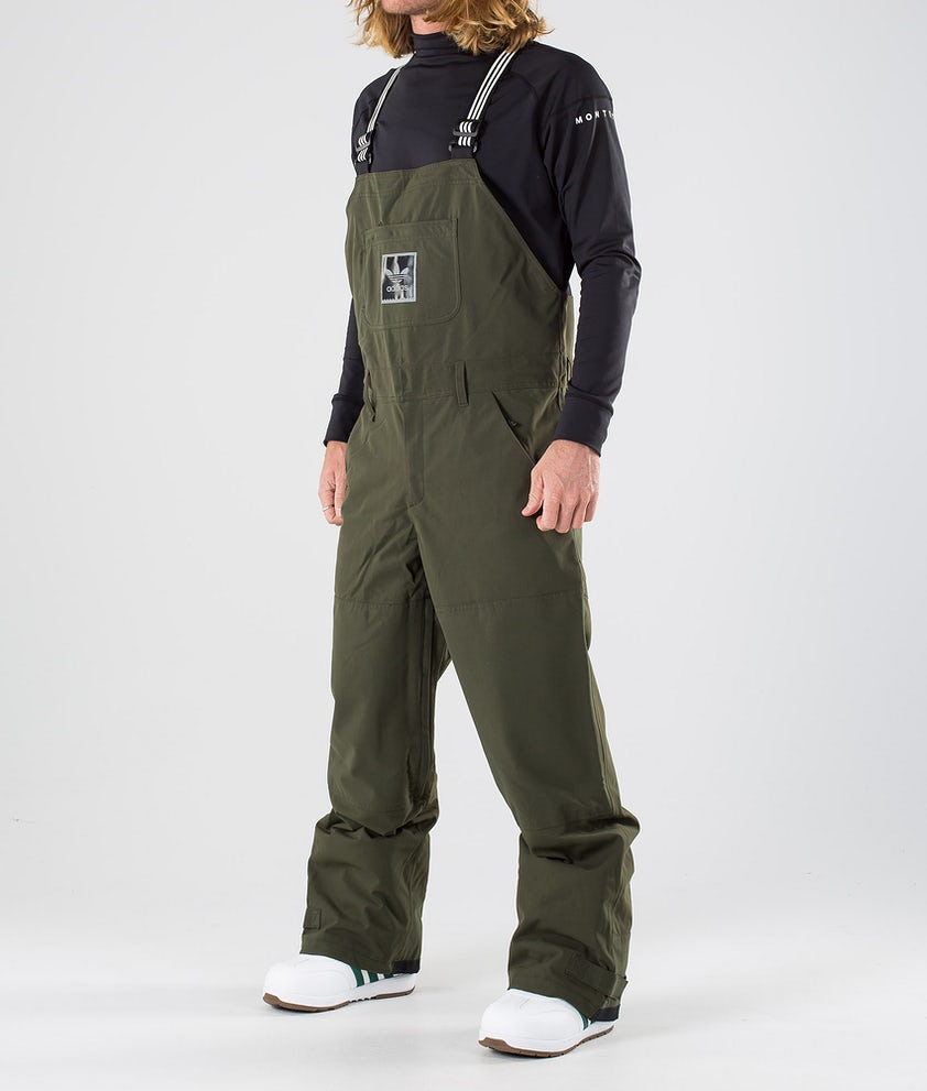 Adidas Snowboarding Utility Bib Snowboard Pants Night Cargo/Collegiate Purple