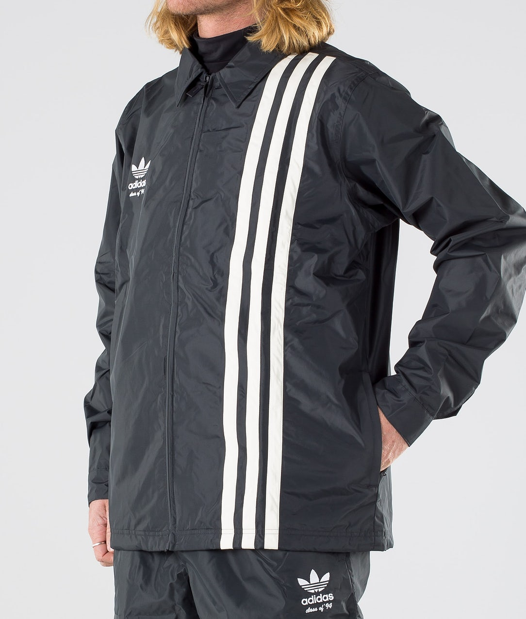 Adidas Snowboarding Civilian Snowboard Jacket Carbon Active Blue Cream White Ridestore Com