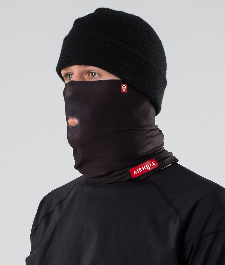 Airhole Airtube Ansiktsmask Svart