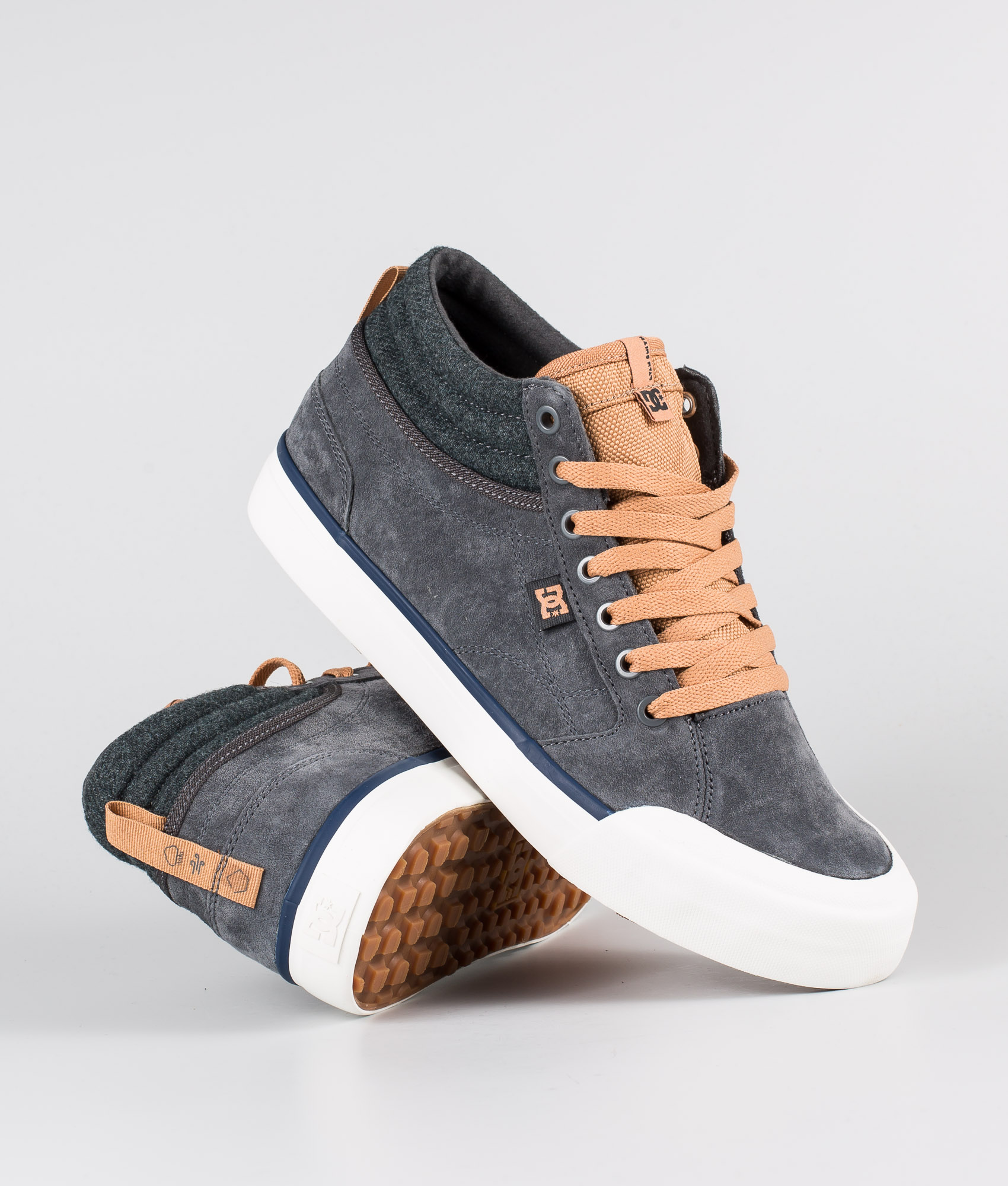 DC Evan Smith Hi Wnt Shoes Grey/Gum